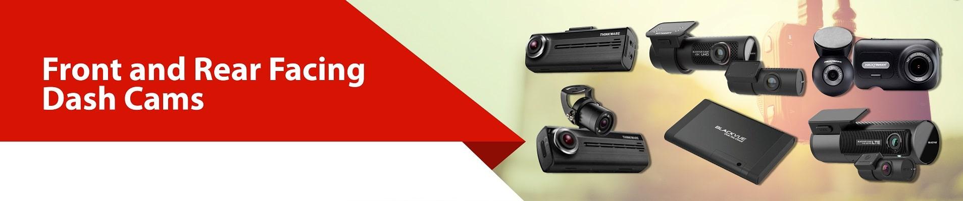 Front and rear facing dash cams