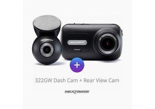 Nextbase 322GW - 1080P Full HD Front 720P Internal Rear